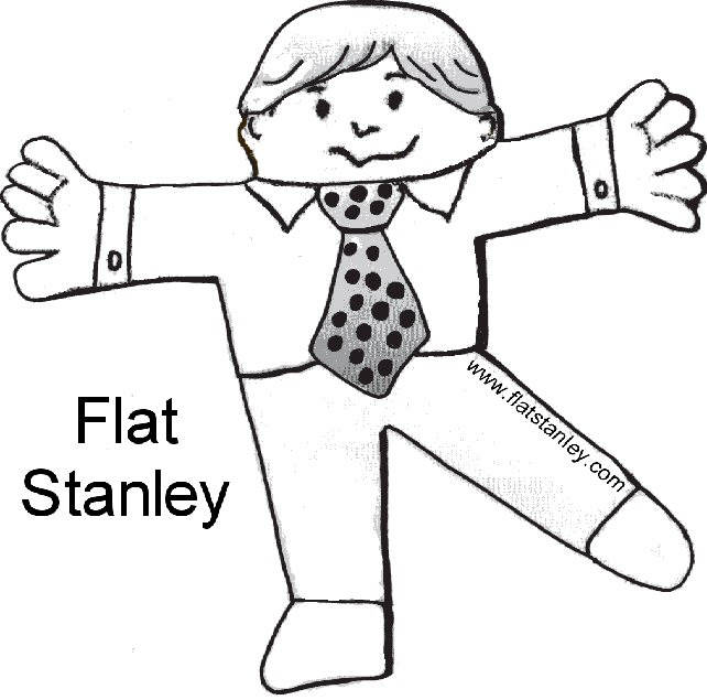 free printable flat stanley template - flat stanley free colouring pages