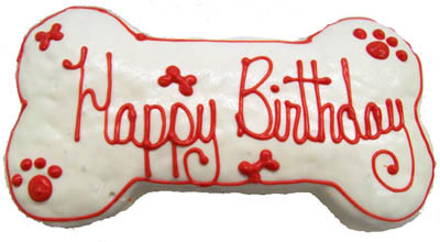 Dog Birthday Cake Peanut Butter Icing